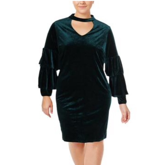 NY Collection Dresses & Skirts - NWT NY Collection Velvet Tiered Sleeves Dress